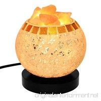 Himalayan Salt Lamp  Natural Crystal Salt Lamp Salt Chunks in Glass Bowl with Wood Base  Bulb and Dimmer Control for Christmas Gift and Home Decorations. [energy class a+++] - B01N1U9U5B