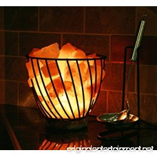 HomeRoots Lighting 7 Himalayan Wired Basket Lamp 3.0 with Natural Rocks with dimmer - B07F8ZX46W