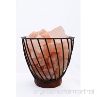 "HomeRoots Lighting 7"" Himalayan Wired Basket Lamp 3.0 with Natural Rocks with dimmer - B07F8ZX46W"