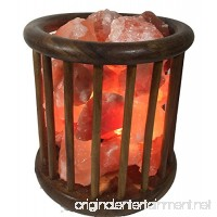 KHEWRA : Natural Crystal Air Purifying Wood Basket Himalayan Salt Lamp with Pure Salt Chunks with UL-approved Cord and 15-Watt Light Bulb - B01N3SFJCU