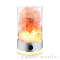 Salt Lamps KZKR New Natural Himalayan Crystal Rock Pink Salt Lamp large 3 to 4 lbs with Backlight Base Electric Wire Bulb 12V - B07416MX74
