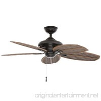 Hampton Bay Palm Beach Ii 48 In. Outdoor Natural Iron Ceiling Fan 191410 by King of Fans - B018A37DP8