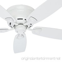 Hinter Fan 48 Outdoor Hugger Ceiling Fan in White with 5 White Plastic Blades (Certified Refurbished) - B06XG878NP