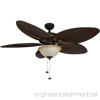 Honeywell Palm Island 52-Inch Tropical Ceiling Fan with Sunset Glass Bowl Light  Five Palm Leaf Blades  Indoor/Outdoor  Bronze - B00KGKF5UE