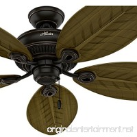 Hunter Fan 54 in. Indoor/Outdoor Ceiling Fan without Light in Onyx Bengal  5 Palm Shaped Fan Blades Included (Certified Refurbished) - B075SKFD49