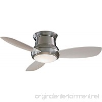 "Minka-Aire F518L-BN Concept II LED Brushed Nickel 44"" Flush Mount Modern Ceiling Fan with Remote  Brushed Nickel (LED Light) - B06WRSMW89"