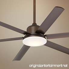 60 Casa Arcade Bronze Damp LED Ceiling Fan - B01M8EWSEZ
