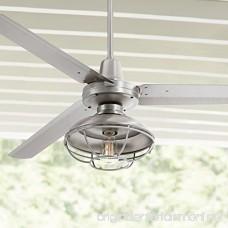 60 Turbina Outdoor Damp Brushed Steel Ceiling Fan - B01M21BBL7