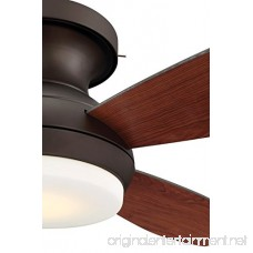 GE Kinsey 44 Bronze LED Indoor Ceiling Fan with SkyPlug Technology for Instant Plug and Play Mounting - B072N36BBQ