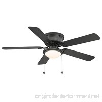 Hampton Bay Hugger 52 in. Black Ceiling Fan - Black - Reversable Blades - B01BPF58I2