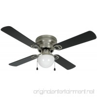 Hardware House 543611 Aegean Flush-Mount 42-Inch Ceiling Fan with Optional Light Fixture  Satin Nickel - B0018P1TYC