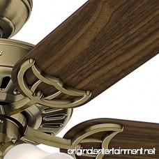 Hunter 53063 Studio Series 52-inch Antique Brass Ceiling Fan with Five Walnut/Medium Oak Blades and Light Kit - B00ESVXV0S