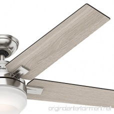 Hunter 54 Brushed Nickel Contemporary Ceiling Fan with Cased White LED Light Kit and Remote Control (Certified Refurbished) - B073G5RBNT