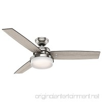 Hunter 59157 Sentinel 52 Ceiling Fan with Light with Handheld Remote Large Brushed Nickel - B06X91TB3Q