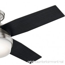 Hunter 59243 Dempsey Low Profile With Light Brushed Nickel Ceiling Fan With Light & Remote 44 Inch - B01CDG05NK