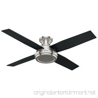 Hunter 59247 Dempsey Low Profile Brushed Nickel Ceiling Fan With Remote 52 - B01CDG0A8U