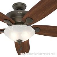 Hunter Fan 60 Great Room Ceiling Fan in New Bronze with Swirled Marble Glass Light Kit 5 Blade (Certified Refurbished) - B01N7T7P35