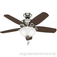 "Hunter Fan Company 52219 Traditional Builder Small Room Brushed Nickel Ceiling Fan with Light  42"" - B01CDGCCHC"