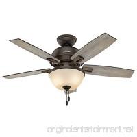 Hunter Fan Company 52225 Casual Donegan Bowl Light Onyx Bengal Ceiling Fan with Light 44 - B01CDGCE16