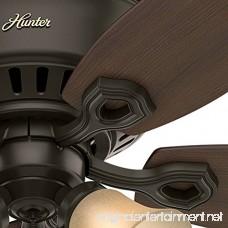 Hunter Fan Company 53327 52 Builder Low Profile New Ceiling Fan with Light Bronze - B01CDFYO9W