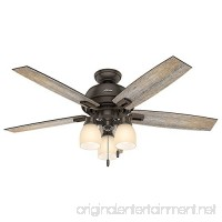 "Hunter Fan Company 53336 Casual Donegan Onyx Bengal Ceiling Fan with Light  52"" - B01CDFYT3I"