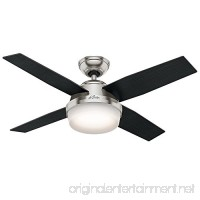 Hunter Fan Company 59245 Contemporary Dempsey Brushed Nickel Ceiling Fan with Light & Remote 44 - B01CDG07TC