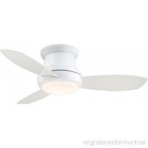Minka-Aire F518L-WH Concept II LED White Flush Mount 44 Ceiling Fan with Light & Remote Control - B06ZXYW2YN