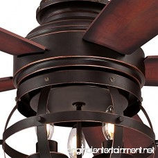 Westinghouse 7217100 Stella Mira 52-inch Oil Rubbed Bronze Indoor Ceiling Fan LED Light Kit Remote Control Included - B07B4CG3YT