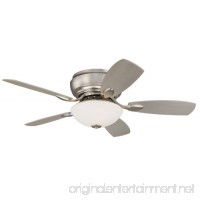 "44"" Casa Habitat Brushed Steel Hugger Ceiling Fan - B000QSLKDW"