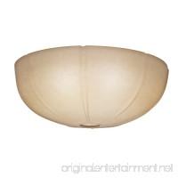 Casablanca 99062 Transitional Ribbed Glass Bowl for 99023  Toffee - B00CIN5I9K