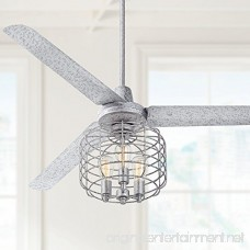 Industrial Cage Galvanized Steel Ceiling Fan Light Kit - B00XC1AB4O