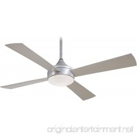 "Minka-Aire F523-ABD  Aluma  52"" Outdoor Ceiling Fan with Light & Rmt Control  Brushed Aluminum - B00I5SYL7W"