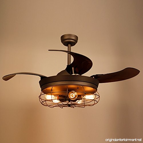Parrot Uncle Ceiling Fans With Light 42 Inches Vintage