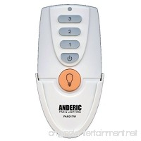 Anderic Replacement for FAN51T Remote with Wall Mount for Hampton Bay Ceiling Fans - (Model: FAN-51T FCC ID: L3HFAN51T) - FAN51TW - B06XFZ311M