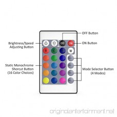 RGB Remote Controller 24 Key Mini Wireless Dimmer Control for Ustellar RGB Flood Light Stage Lighting Outdoor Color Changing Floodlight Wall Washer Light - B07DD57688