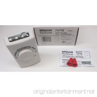 Broan NuTone 70TW Wall Thermostat for Fans - White - B002DZDW9Q