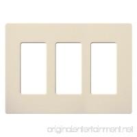 Lutron CW-3-LA Dimmer/Fan Control Wallplate 3-Gang Lt. Almond Claro Series - B009EB6CAS